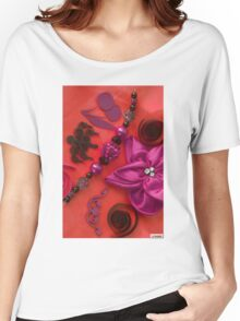 Bow, Beads & Filigree Women's Relaxed Fit T-Shirt