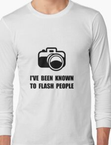 Camera Flash People Long Sleeve T-Shirt