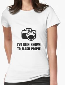 Camera Flash People Womens Fitted T-Shirt
