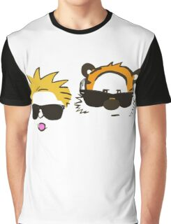 calvin and hobbes sunglasses Graphic T-Shirt