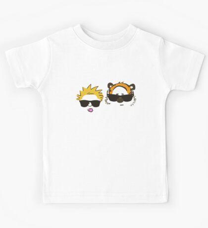 calvin and hobbes sunglasses Kids Tee
