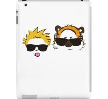 calvin and hobbes sunglasses iPad Case/Skin