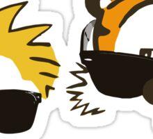 calvin and hobbes sunglasses Sticker