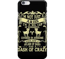 Born In Aries Horoscope - Aries Quotes - Funny Birthday Gift T-shirt iPhone Case/Skin