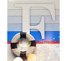 Initial F Nautical style Photographic Print