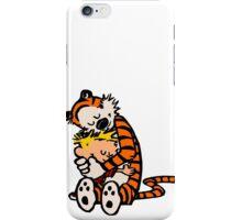 calvin and hobbes sleeping iPhone Case/Skin