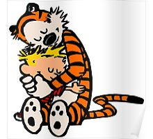 calvin and hobbes sleeping Poster