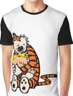 calvin and hobbes sleeping Graphic T-Shirt