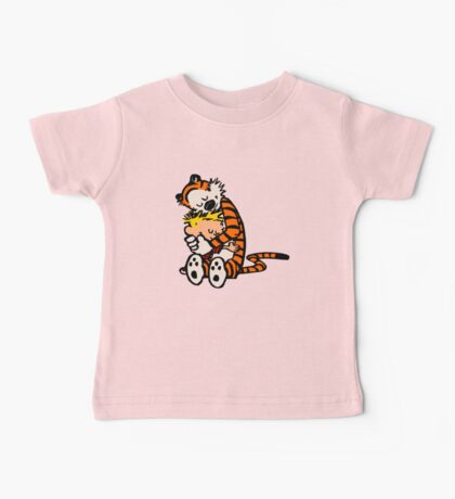 calvin and hobbes sleeping Baby Tee