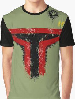 Minimalist Boba Fett Graphic T-Shirt