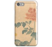 Kuro-tomesode with a Pair of Pheasants in Hiding, Anonymous iPhone Case/Skin