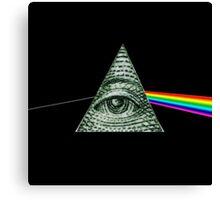 Pink Floyd Illuminati Canvas Print