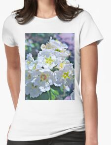 Beautiful White Flowers Womens Fitted T-Shirt