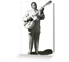 VINTAGE BB KING EARLY IMAGE Greeting Card