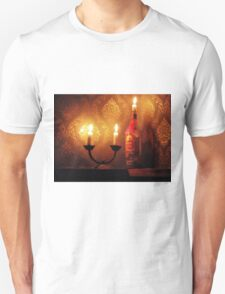 Rum Bottle Candle by Billy Bernie T-Shirt