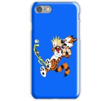 calvin and hobbes shocked iPhone Case/Skin