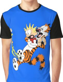 calvin and hobbes shocked Graphic T-Shirt