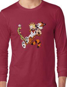 calvin and hobbes shocked Long Sleeve T-Shirt