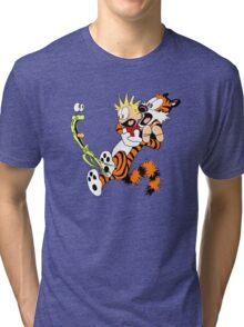 calvin and hobbes shocked Tri-blend T-Shirt