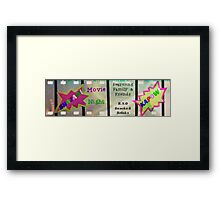 Movie Night Framed Print