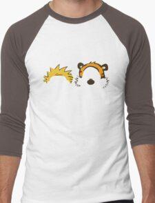 calvin and hobbes not face Men's Baseball ¾ T-Shirt