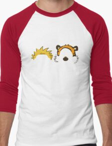 calvin and hobbes not face Men's Baseball ¾ T-Shirt