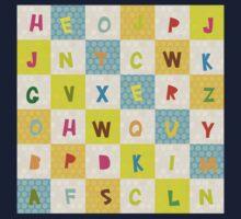 alphabet   One Piece - Short Sleeve