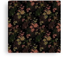 Seamless floral pattern with flowers print background Canvas Print