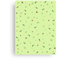 Green Floral Canvas Print