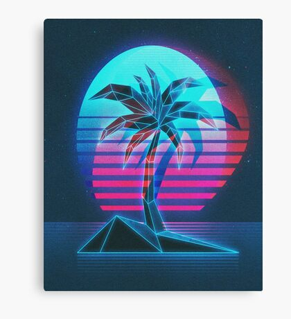 Palm Beach CRT Canvas Print