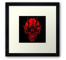 hannya mask red Framed Print