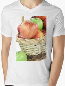 Fall apples assorts close view. Mens V-Neck T-Shirt