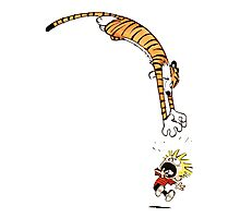 calvin and hobbes hungry Photographic Print