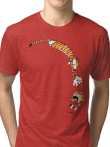 calvin and hobbes hungry Tri-blend T-Shirt