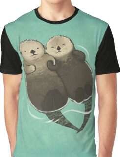 Significant Otters - Otters Holding Hands Graphic T-Shirt