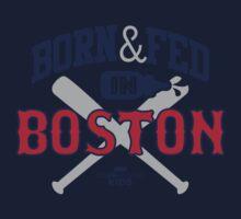 BORN & FED IN BOSTON Kids Tee