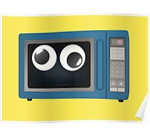 Googly-Eyed Microwave Poster