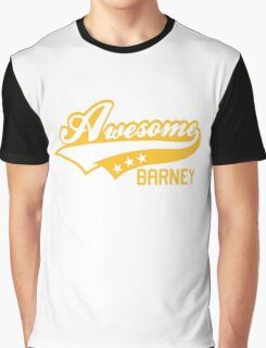 AWESOME BARNEY (yellow type) big version Graphic T-Shirt