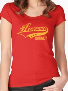 AWESOME BARNEY (yellow type) big version Women's Fitted Scoop T-Shirt
