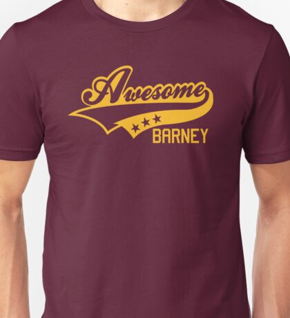 AWESOME BARNEY (yellow type) big version Unisex T-Shirt
