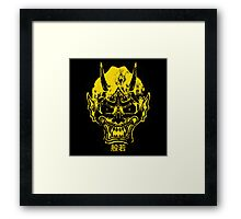 hannya mask yelllow Framed Print