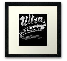 Ultra Violence A Clockwork Orange Movie Quote Framed Print