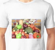 Vegetables and Fruits. Unisex T-Shirt