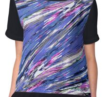 Abstract Collage Women's Chiffon Top
