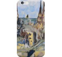 Harbour Charlottetown PEI sketch iPhone Case/Skin