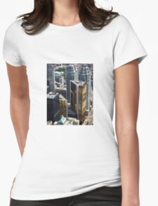 Financial heart of Toronto Bay street Womens Fitted T-Shirt