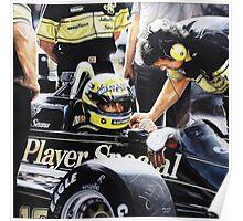 Ayrton Senna - Lotus Renault 98t Poster