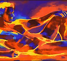 """Reclining male figure"" by Helenka"