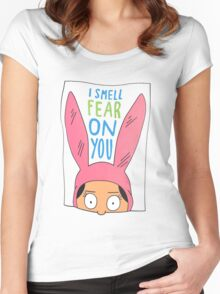 Louise Belcher: I Smell Fear On You Women's Fitted Scoop T-Shirt