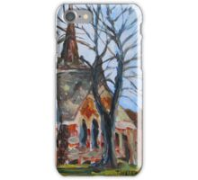 St. Paul's Anglican Church Charlottetown PEI sketch iPhone Case/Skin